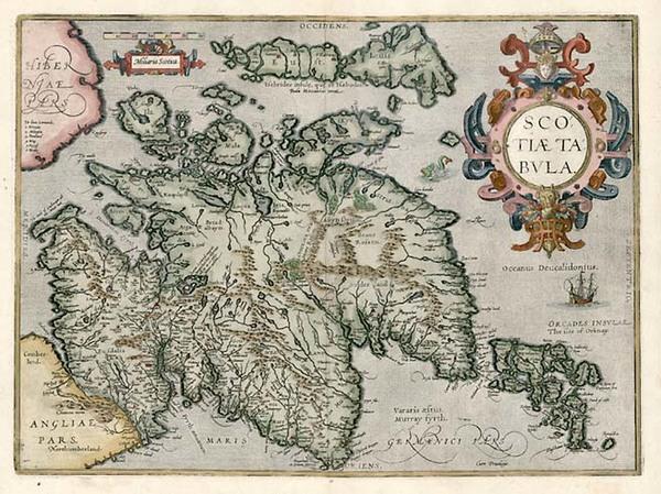 98-Scotland Map By Abraham Ortelius