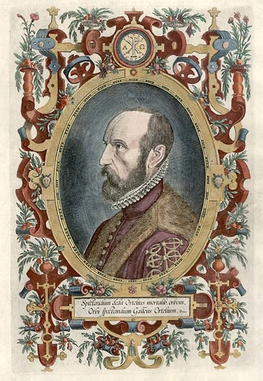 25-Portraits & People Map By Abraham Ortelius