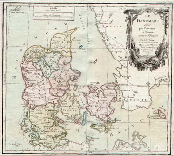 90-Europe and Scandinavia Map By Louis Brion de la Tour