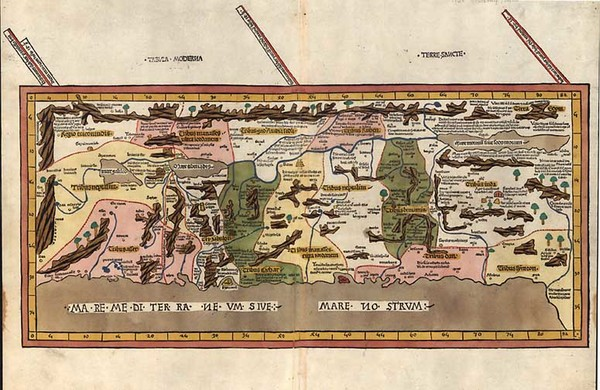 42-Asia, Middle East and Holy Land Map By Claudius Ptolemy / Johann Reger