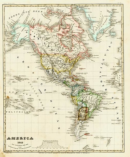 77-South America and America Map By Joseph Meyer