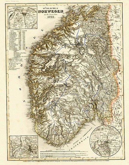 80-Europe and Scandinavia Map By Joseph Meyer