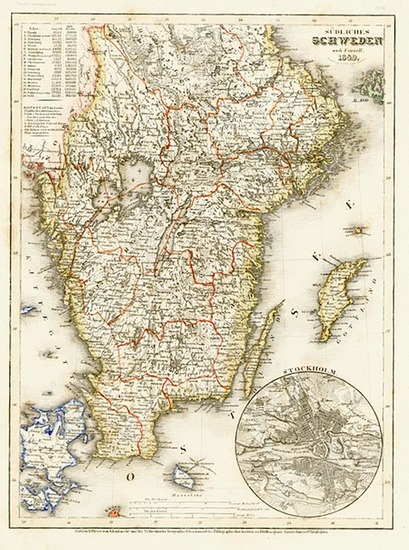98-Europe and Scandinavia Map By Joseph Meyer