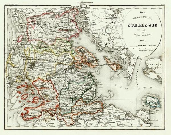 53-Europe, Netherlands, Germany and Scandinavia Map By Joseph Meyer