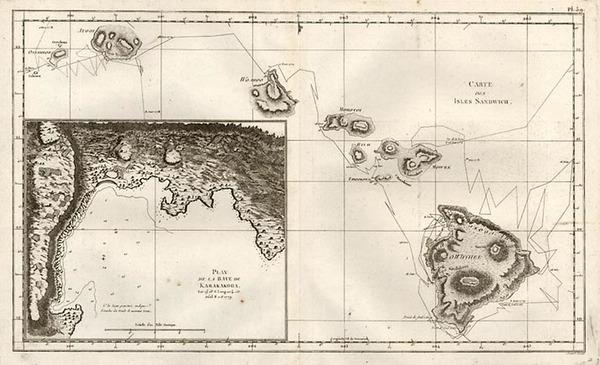 26-Hawaii, Australia & Oceania and Hawaii Map By James Cook