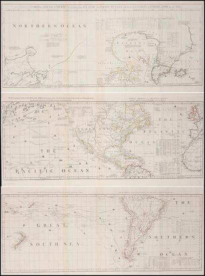 81-World, South America, Pacific, California and America Map By Robert Sayer  &  John Bennett
