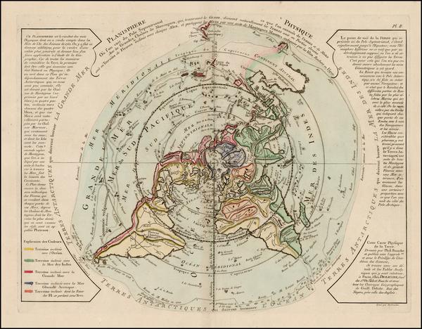 55-World, Northern Hemisphere, Polar Maps, Alaska, Canada and Australia Map By Jean André D