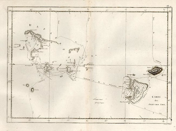 0-Australia & Oceania, Oceania and Other Pacific Islands Map By James Cook
