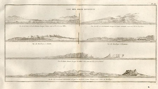 48-Hawaii, Australia & Oceania and Hawaii Map By James Cook