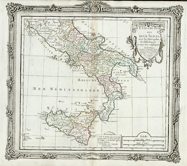 77-Europe, Italy and Balearic Islands Map By Louis Brion de la Tour