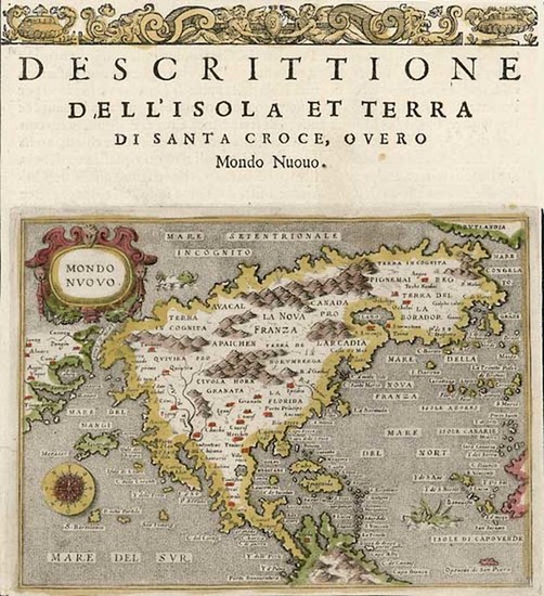 89-World, Western Hemisphere, North America, South America and America Map By Tomasso Porcacchi