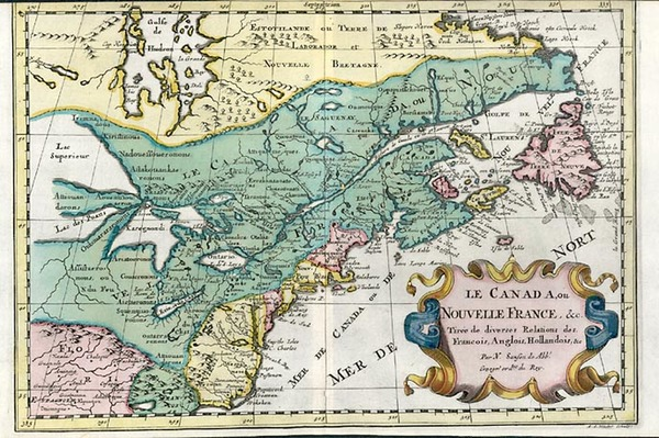 82-New England, Midwest and Canada Map By Nicolas Sanson