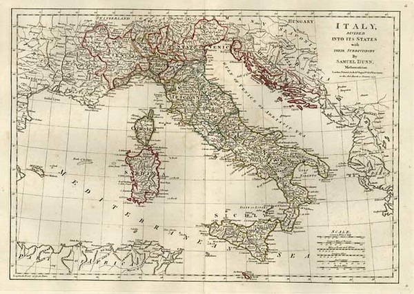 67-Europe, Italy, Mediterranean and Balearic Islands Map By Samuel Dunn