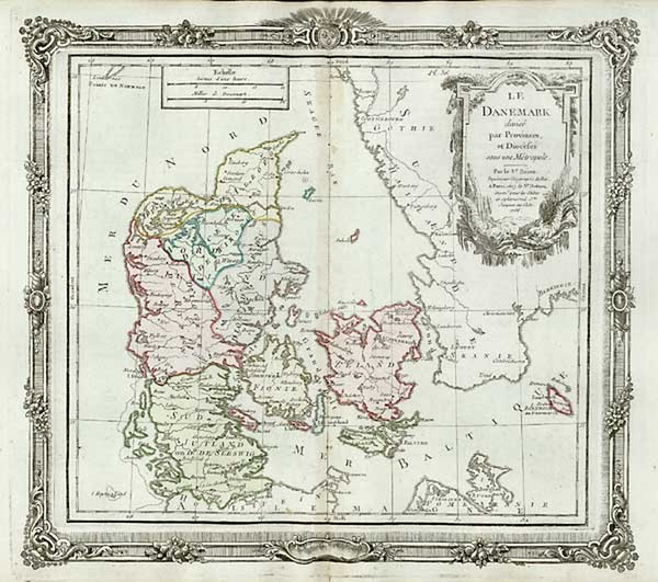 72-Europe and Scandinavia Map By Louis Brion de la Tour