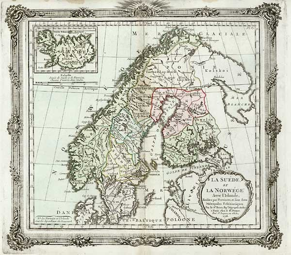14-Europe and Scandinavia Map By Louis Brion de la Tour
