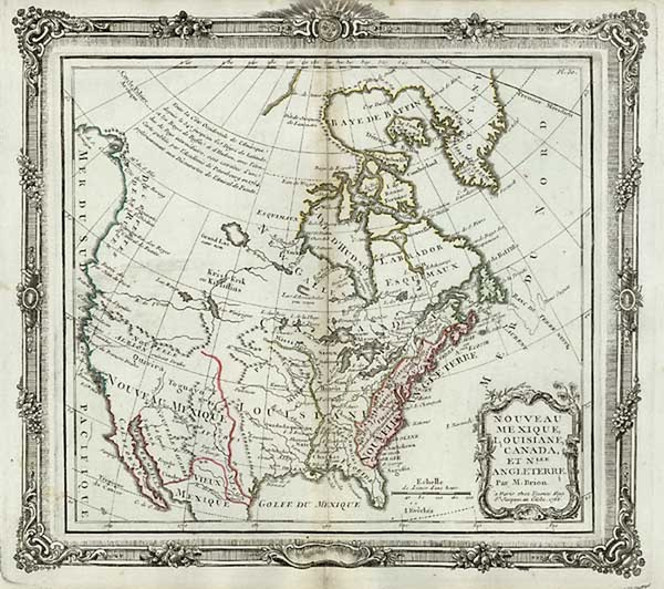 100-United States, Southwest, Alaska and Canada Map By Louis Brion de la Tour