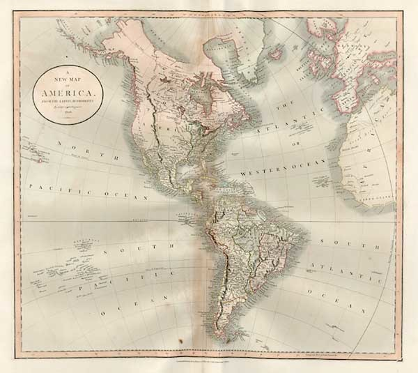 3-South America and America Map By John Cary