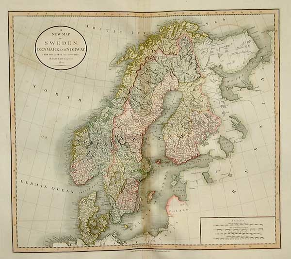 8-Europe and Scandinavia Map By John Cary