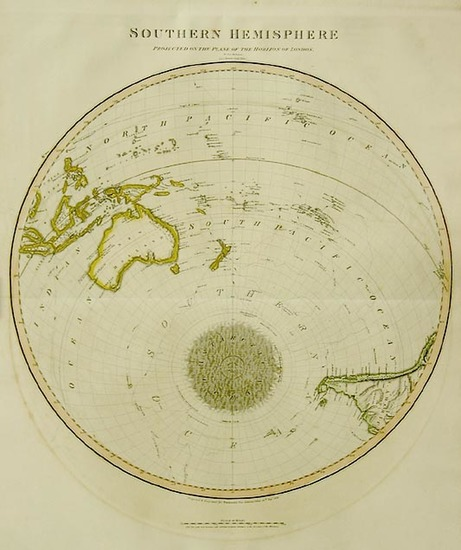 67-World, Southern Hemisphere, Polar Maps, Australia & Oceania, Oceania and New Zealand Map By