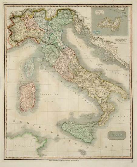 35-Europe, Italy, Mediterranean and Balearic Islands Map By John Thomson