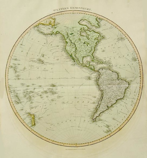 39-World, Western Hemisphere, South America, Pacific and America Map By John Thomson