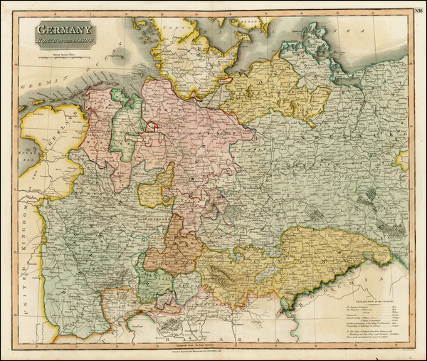 21-Europe, Germany and Baltic Countries Map By John Thomson