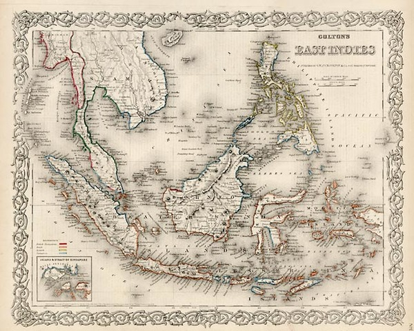 92-Southeast Asia and Other Pacific Islands Map By G.W.  & C.B. Colton