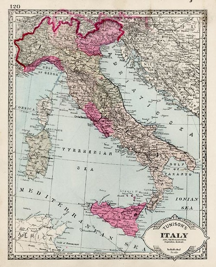 28-Europe and Italy Map By H.C. Tunison