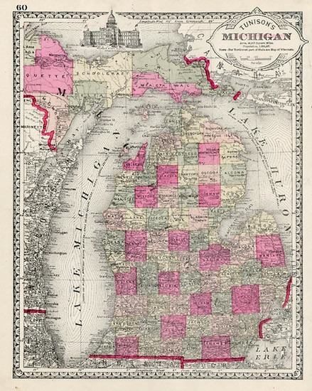 17-Midwest Map By H.C. Tunison