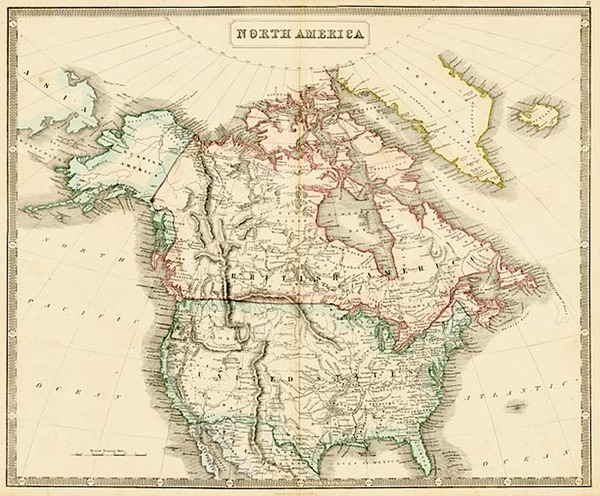 15-United States, Alaska and Canada Map By George Philip  &  Son