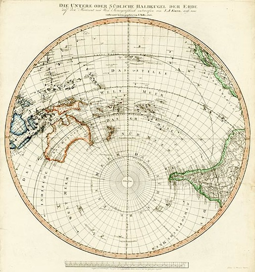 55-World, Southern Hemisphere, Polar Maps, Australia & Oceania, Pacific and Oceania Map By Tra