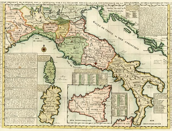 31-Europe and Italy Map By Henri Chatelain