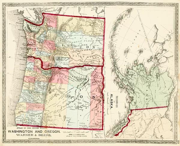 38-Alaska Map By H.H. Lloyd