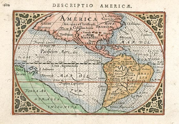42-South America and America Map By Cornelis Claesz