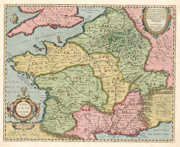 16-Europe, Switzerland, France and Italy Map By Abraham Ortelius