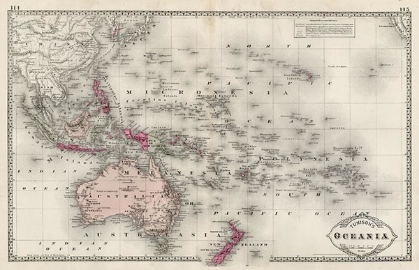64-World, Australia & Oceania, Pacific, Oceania, Hawaii and Other Pacific Islands Map By H.C.