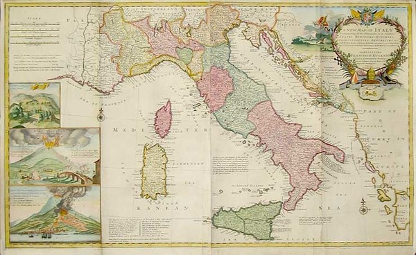 79-Europe, Italy and Balearic Islands Map By Herman Moll