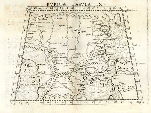 93-Europe, Balkans and Turkey Map By Girolamo Ruscelli