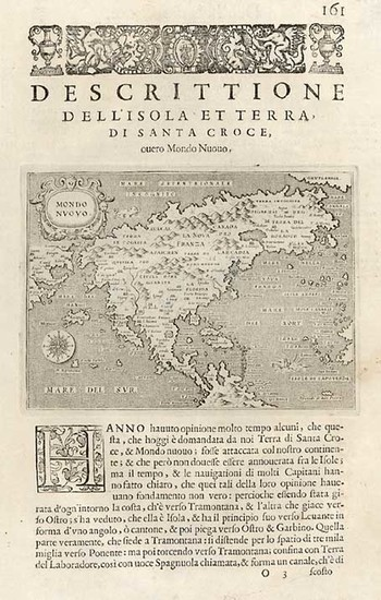 59-World, Western Hemisphere, North America, South America and America Map By Tomasso Porcacchi