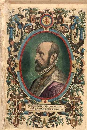 3-Portraits & People Map By Abraham Ortelius