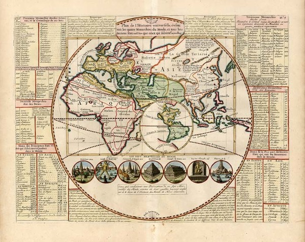 3-World, World, Eastern Hemisphere, South America, California and America Map By Henri Chatelain