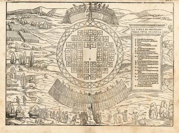 9-Canada Map By Giovanni Battista Ramusio