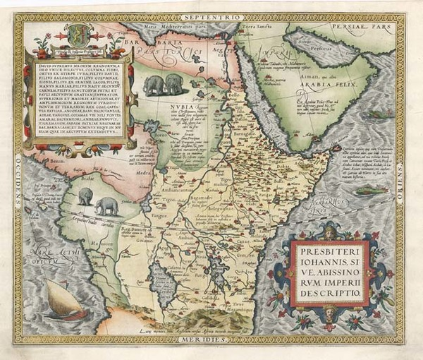 96-Africa, Africa, North Africa, East Africa and West Africa Map By Abraham Ortelius