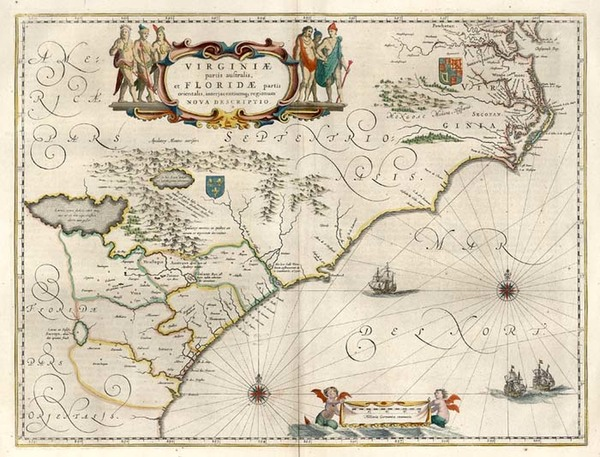 66-Southeast Map By Willem Janszoon Blaeu
