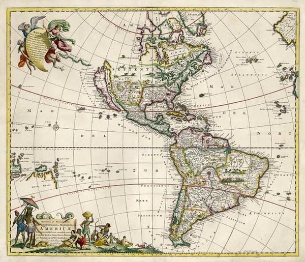 63-North America, South America, Australia & Oceania, Australia, Oceania and America Map By Fr