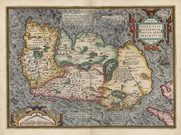 6-Ireland Map By Abraham Ortelius
