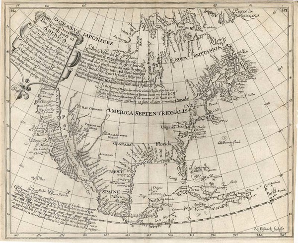 17-North America and California Map By Henry Briggs