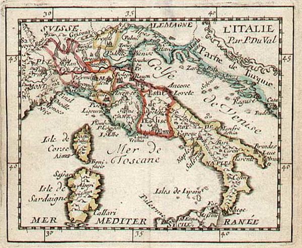 62-Europe and Italy Map By Pierre Du Val