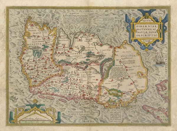 89-Ireland Map By Abraham Ortelius