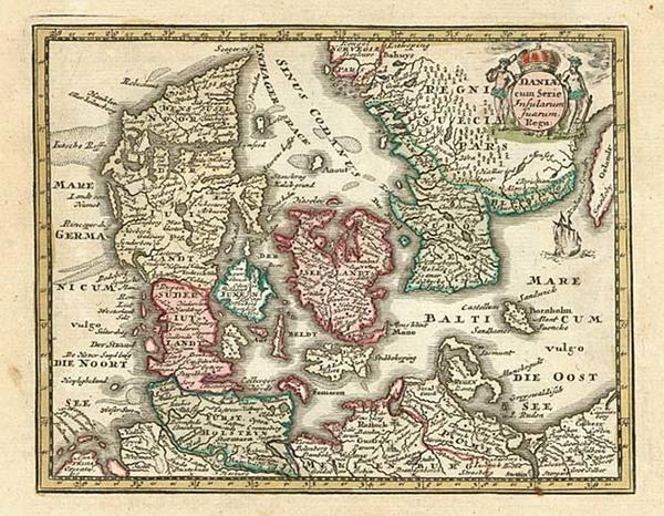 26-Europe and Scandinavia Map By Adam Friedrich Zurner / Johann Christoph Weigel